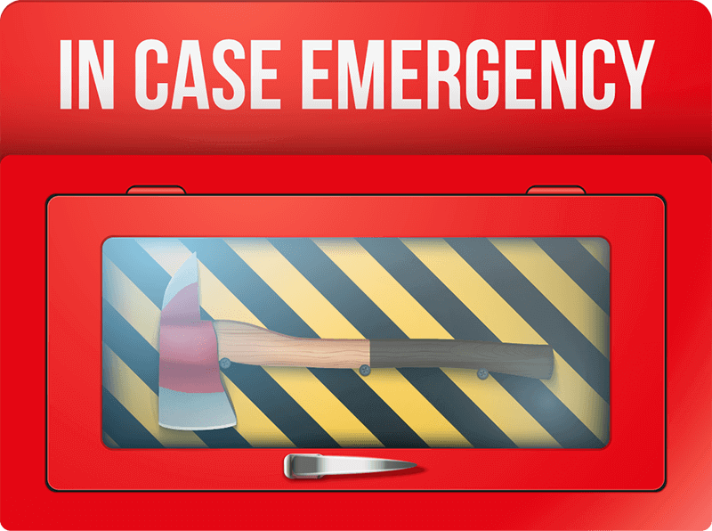 in case of emergency fire department box illustration